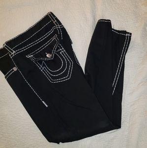 Men's True Religion Black Ripped Denim Jeans